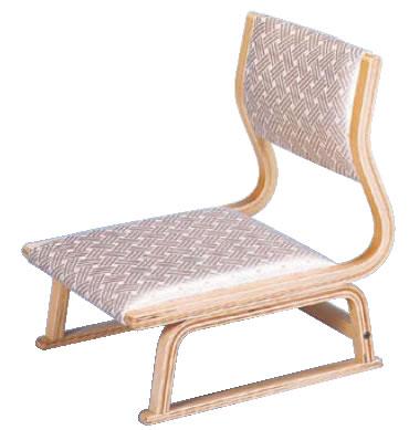 高座いす 座楽白木 布張 R-19-03【代引き不可】【座椅子】【和式椅子】【宴会椅子】【業務用】