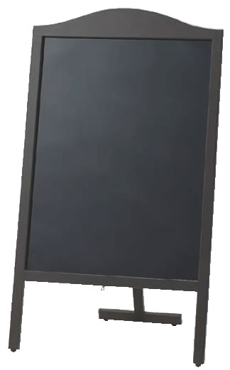 マーカー用木製スタンド黒板 山型 YBD90-1【代引き不可】【案内看板】【案内プレート】【販売板】【業務用】