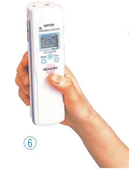 防水型 非接触温度計 サーモハンター PT-7LD【非接触温度計】【可視光線温度計】【業務用】