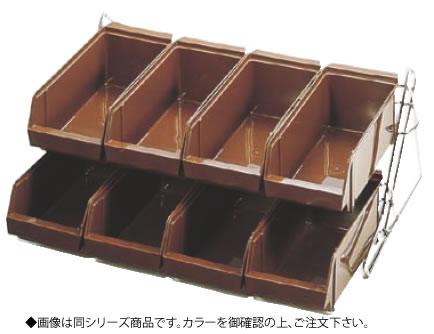 SAスタンダード オーガナイザー 2段4列(8ヶ入)グレー【ステンレス製】【業務用】