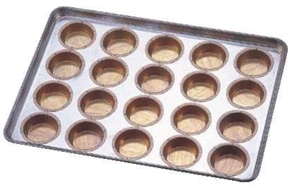 シリコン加工 ミニマンケ75型 天板 20連 【シリコン加工 タルト型】【ケーキ型 洋菓子焼型 】【製菓用品 製パン用品】【フレキシブルモルド 天板型】【業務用】
