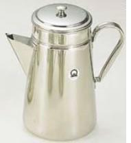 SA18-8コーヒーポット #18 三角口(電磁調理器用) 【珈琲ポット 珈琲用品】【喫茶用品】【コーヒーマシン コーヒー用品】【18-8ステンレス】【Ω】【業務用】