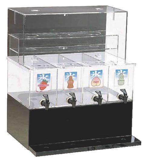 【喫茶用品 かき氷用品】【かき氷】 ジャスティNAシロップディスペンサー 4連 L 【代引き不可】【喫茶用品 かき氷用品】【かき氷】【業務用】