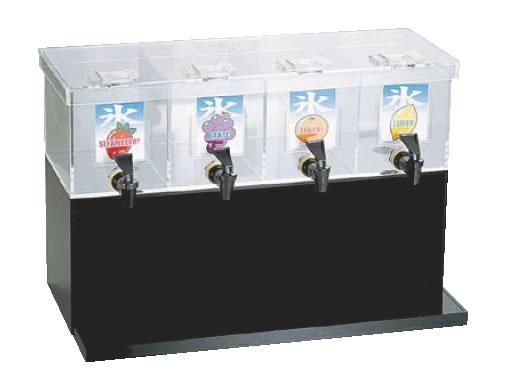【喫茶用品 かき氷用品】【かき氷】 ジャスティNAシロップディスペンサー 4連 M 【代引き不可】【喫茶用品 かき氷用品】【かき氷】【業務用】