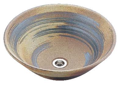 アーサーライン手洗鉢 T60-3 13号(信楽焼)【トイレ備品】【手洗い】【業務用】