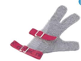 ニロフレックス メッシュ手袋3本指(片手) S S3(白)【金属メッシュ手袋】【niroflex】【防刃】【特殊手袋】【業務用】