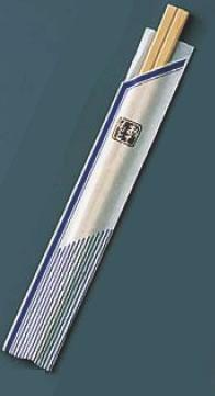 割箸袋入 ピース紺 白樺元禄 20.5cm (1ケース100膳×40入)【はし】【箸】【割り箸】【業務用】