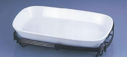 TKG角バルドスタンドセット 白 39-1011-39W【バイキング ビュッフェ】【バンケットウェア】【盛器 大皿】【スタンド】【飾り台】【業務用】