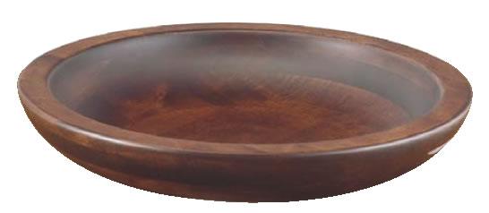 木製 惣菜くり鉢 浅型 大 45010【フードバー サラダバー】【バイキング ビュッフェ】【バンケットウェア】【盛器 大皿】【業務用】