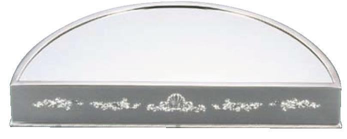 UK18-8半丸型ミラープレート 30インチ (アクリル)シェル【代引き不可】【バイキング】【ビュッフェ】【バンケットウェア】【皿】【装飾台】【18-8ステンレス】【業務用】