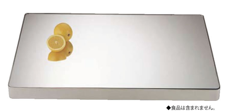UK18-8ロイヤル角ミラープレート 22インチ (アクリル)【代引き不可】【バイキング】【ビュッフェ】【バンケットウェア】【皿】【装飾台】【18-8ステンレス】【業務用】