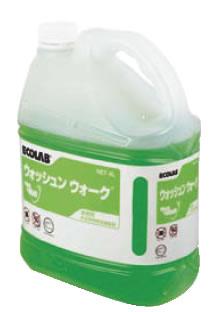 ウォッシュンウォーク(床用クリーナー) 4L 【ワックス】【清掃道具 掃除道具】【清掃用品 掃除用品】【 ポリシャー】【業務用】