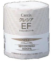 クレシア EFトイレットロール 90M (1ケース80個入)【トイレ用品】【トイレットペーパー】【業務用】