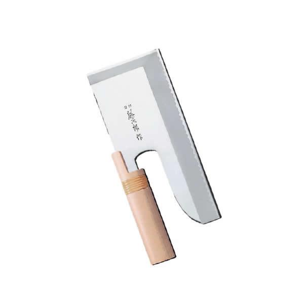 藤次郎 そば切 F-738(片刃)(モリブデンバナジウム鋼) 24cm 【麺切り庖丁】【製麺用品】【業務用】