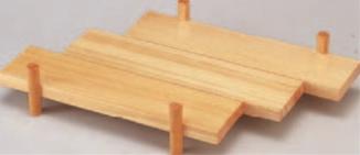 白木イカダ盛器【代引き不可】【盛器】【イカダ】【料亭に】【寿司皿】【木製】【1-731-1】