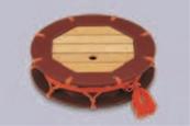 8.5寸つづみ盛込器 茶乾漆【盛器】【つづみ盛器】【つづみ盛込器】【料亭】【つづみ】【1-733-1】