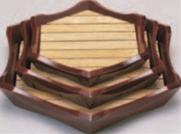 亀甲盛込器 溜 (小)【盛込器】【料亭に】【盛器】【木製】【白木】【1-734-1】