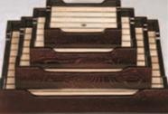 長手盛込器 溜 3人用【盛込器】【料亭に】【盛器】【木製】【白木】【1-734-5】