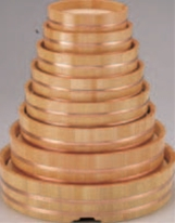 丸桶 (スノ子付) 尺2寸【盛込器】【料亭に】【盛器】【木製】【白木】【1-737-9】
