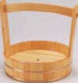両手桶 (本体・スノ子付) 尺4寸【代引き不可】【盛込器】【桶】【木製】【1-741-17】