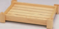 イカダ型盛込台 2尺【盛込器】【宴会に】【盛器】【木製】【白木】【1-744-4】