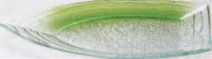 舟型盛皿 グリーン透かし【食器】【ガラス】【皿】【プレート】【H-8-62】