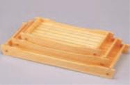 桧盛込遊舟 (小)【盛器】【白木盛器】【料亭に】【白木】【船盛りに】【木製】【M-3-49】