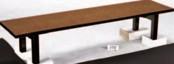 メラミン 堆朱(折足) (180×45×32.5)【代引き不可】【座卓】【テーブル】【机】【料亭に】【旅館に】【1-915-9】