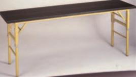 和・洋式用テーブル(黒エッジ) メラミン黒木目 2段階高さ調整式【代引き不可】【会議テーブル】【テーブル】【長机】【机】【A-1-77】