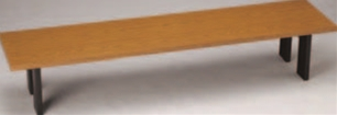 新宴会机 メラミン・チーク(ABS折足)【代引き不可】【会議テーブル】【テーブル】【長机】【机】【A-2-36】
