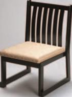 6本格子高椅子 ベージュ(布)【代引き不可】【椅子】【座椅子】【イス】【和室椅子】【旅館に】【料亭に】【A-3-48】