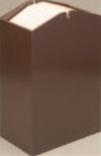 アローズダストBOX/W(容量20L) ブラウン【ホテルグッズ】【旅館用品】【客室用品】【ごみ箱】【ゴミ箱】【H-38-17】