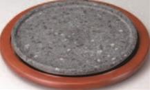 韓国石皿(敷板付)【代引き不可】【韓国料理】【食器】【H-12-81】
