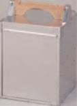 アルミ出前箱 縦型 4段【出前】【おかもち】【岡持ち】【出前箱】【デリバリー】【1-1001-3】