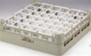 36仕切りステムウェアーラック S-36-5【洗浄ラック】【食器洗浄器用】【洗浄機用】【1-947-27】