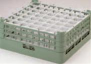 49仕切りステムウエアーラック S-49-4【洗浄ラック】【食器洗浄器用】【洗浄機用】【1-947-34】