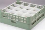 16仕切りステムウェアーラック S-16-3【洗浄ラック】【食器洗浄器用】【洗浄機用】【1-947-5】