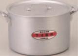 半寸胴鍋 42cm【鍋】【アルミ鍋】【業務用鍋】【フタ付】【1-961-23】