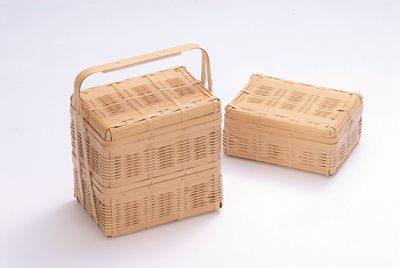 全国宅配無料 ピクニックバスケット(小)(二段), キタノマチ 40bfcec2