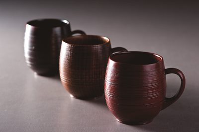 ■3コセット■樽型マグカップ(手付)(目摺)■3コセット■
