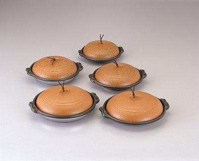 ■3コセット■丸陶板浅皿φ16cm(A)(陶土)■3コセット■