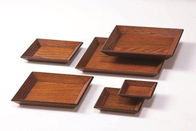 ■3コセット■木製角皿(尺)■3コセット■