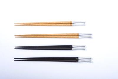 ■3コセット■メタルスリム箸(ブラックウッド)(大)■3コセット■