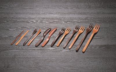 ■30コセット■木製菓子ナイフ(BK)■30コセット■