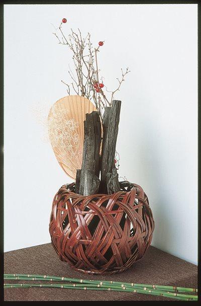 虎竹飛騨(炭飾り)