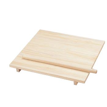 桐製 のし板(棒付・脚無)小 600×600×H24(85296)【代引き不可】【麺台】【蕎麦】【うどん】【のし台】【めん台】