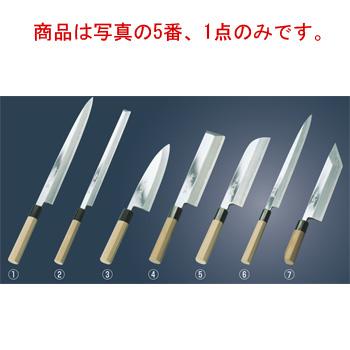 兼松作 鏡面仕上 鎌型薄刃庖丁 18cm【包丁】【キッチンナイフ】【和包丁】