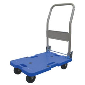 サイレントマスター 静音台車 LSK-201(ハンドル折りたたみ式)ブルー【台車】【運搬台車】【キャリー】