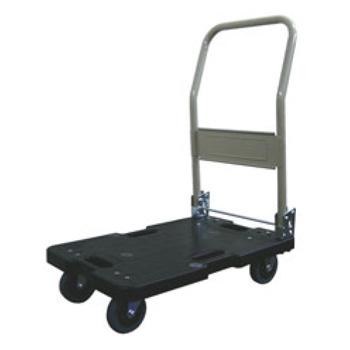 サイレントマスター 静音台車 LSK-201K(ハンドル折畳式)ブラック【台車】【運搬台車】【キャリー】