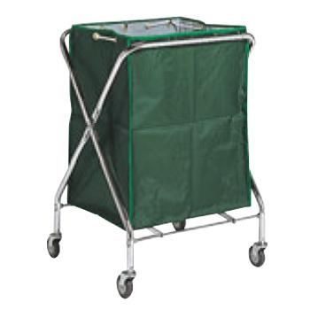 BM ダストカー 袋付(折りたたみ式)大 緑 236L【代引き不可】【ダストカート】【ボールカゴ】【ボール入れ】